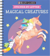 Omslag - Brain Games - Sticker by Letter: Magical Creatures (Sticker Puzzles - Kids Activity Book)