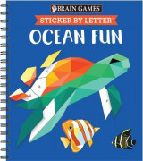 Omslag - Brain Games - Sticker by Letter: Ocean Fun (Sticker Puzzles - Kids Activity Book)