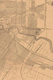 1890 Map of Houston, Texas - A Poetose Notebook / Journal / Diary (50 pages/25 sheets) (Heftet)