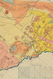 1904 Geological Map of a Portion of West Texas - A Poetose Notebook / Journal / Diary (50 pages/25 sheets) (Heftet)