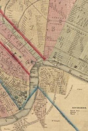 Poetose Notebook featuring 1861 map of New Orleans (50 pages/25 sheets) (Heftet)