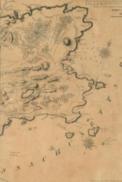 Poetose Notebook featuring 1831 map of Gloucester, Cape Ann (50 pages/25 sheets) (Heftet)