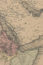 Poetose Notebook featuring 1855 map of North Eastern Africa (50 pages/25 sheets) (Heftet)