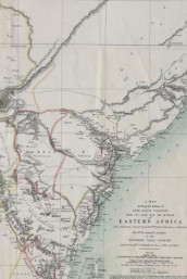 Poetose Notebook featuring 1870 Eastern Africa map (50 pages/25 sheets) (Heftet)