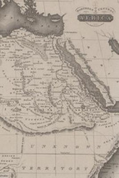 Poetose Notebook featuring 1815 map of Northern and Central Africa (50 pages/25 sheets) (Heftet)
