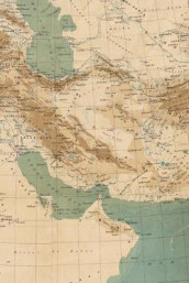 Poetose Notebook featuring 1883 Middle East Map (50 pages/25 sheets) (Heftet)