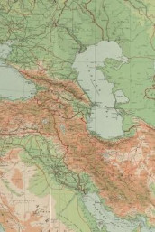 Poetose Notebook featuring 1921 map of the Middle East (50 pages/25 sheets) (Heftet)