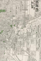 20th Century Map of the City of San Antonio, Bexar County, Texas - A Poetose Notebook / Journal / Diary (50 pages/25 sheets) (Heftet)