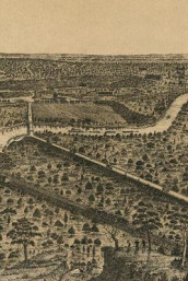 19th Century Bird's Eye View Map of Dallas, Texas - A Poetose Notebook / Journal / Diary (50 pages/25 sheets) (Heftet)