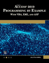 Omslag - Microsoft Access 2019 Programming by Example with VBA, XML, and ASP