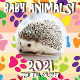 Omslag - Baby Animals! 2021 Mini Wall Calendar