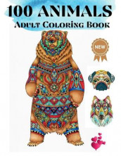 100 Animals Adult Coloring Book av Over The Rainbow Publishing (Heftet)