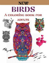 Omslag - Birds a coloring book for adults