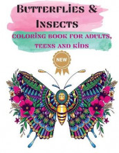 Butterflies & Insects Coloring books for Adults, Teens, and Kids av Over The Rainbow Publishing (Heftet)