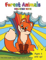 Omslag - Forest Animals Coloring Book for Kids Ages 4-8!