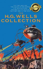 The H. G. Wells Collection (5 Books in 1) The Time Machine, The Island of Doctor Moreau, The Invisible Man, The War of the Worlds, The First Men in the Moon (Deluxe Library Binding) av H G Wells (Innbundet)