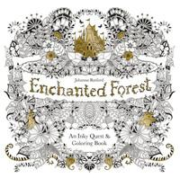 Enchanted forest: an inky treasure hunt and colouring book av Johanna Basford (Andre trykte artikler)