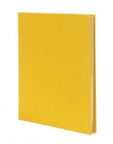 Omslag - Weskin Lined Cloth Notebook - Yellow Medium