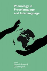 Omslag - Phonology in Protolanguage and Interlanguage