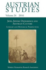 Omslag - Jews, Jewish Difference and Austrian Culture (Austrian Studies 24)