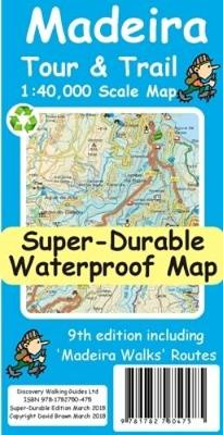 Madeira Tour & Trail Super-Durable Map av David Brawn (Heftet)