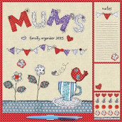 Mums Fabric & Buttons Household Wall av Carousel Calendars (Kalender)