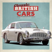Classic British Cars Wall av Carousel Calendars (Kalender)