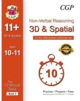 Omslag - 10-Minute Tests for 11+ Non-Verbal Reasoning: 3D and Spatial Ages 10-11 (Book 2) - CEM Test