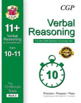 Omslag - 10-Minute Tests for 11+ Verbal Reasoning Ages 10-11 (Book 2) - CEM Test