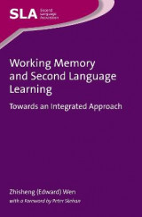 Omslag - Working Memory and Second Language Learning