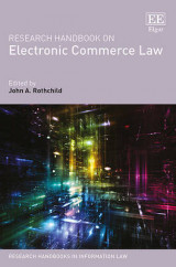 Omslag - Research Handbook on Electronic Commerce Law