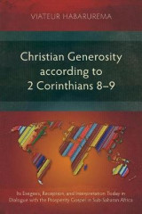 Omslag - Christian Generosity According to 2 Corinthians 8-9