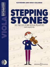 Omslag - Stepping Stones: 26 Pieces for Viola Players Viola Part Only and Audio CD