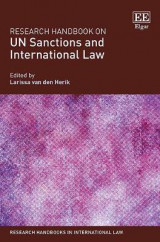 Omslag - Research Handbook on Un Sanctions and International Law