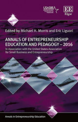 Omslag - Annals of Entrepreneurship Education and Pedagogy 2016