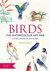 BIRDS Watercolour Art Pad av Emma Faull (Heftet)