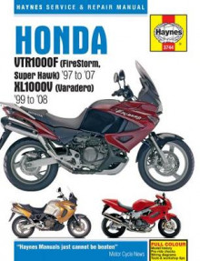 Honda VTR1000F (Firestorm, Superhawk) & XL1000V (Varadero) Service and Repair Manual av Haynes (Heftet)