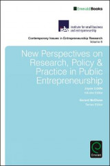 Omslag - New Perspectives on Research, Policy & Practice in Public Entrepreneurship: Volume 6