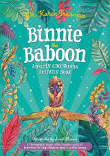 Omslag - Binnie the Baboon Anxiety and Stress Activity Book