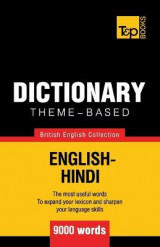 Omslag - Theme-Based Dictionary British English-Hindi - 9000 Words