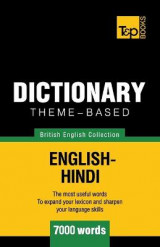 Omslag - Theme-Based Dictionary British English-Hindi - 7000 Words