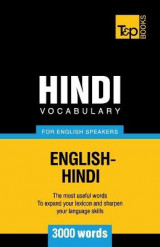 Omslag - Hindi Vocabulary for English Speakers - 3000 Words