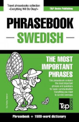 Omslag - English-Swedish Phrasebook and 1500-Word Dictionary