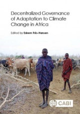 Omslag - Decentralized Governance of Adaptation to Climate Change in Afric