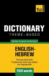 Omslag - Theme-Based Dictionary British English-Hebrew - 7000 Words