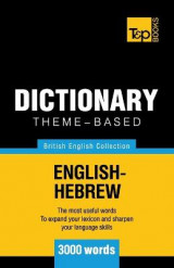 Omslag - Theme-Based Dictionary British English-Hebrew - 3000 Words