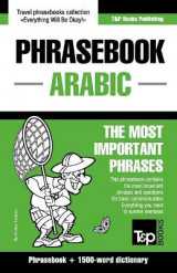 Omslag - English-Arabic Phrasebook and 1500-Word Dictionary