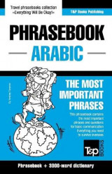 Omslag - English-Arabic Phrasebook and 3000-Word Topical Vocabulary