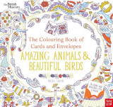 Omslag - British Museum: The Colouring Book of Cards and Envelopes: Amazing Animals and Beautiful Birds