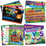 Omslag - Vacation Bible School (Vbs) 2021 Discovery on Adventure Island Decorating Poster Pak